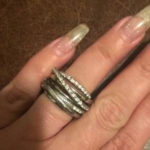 Jewelry - stainless steel multi row ring